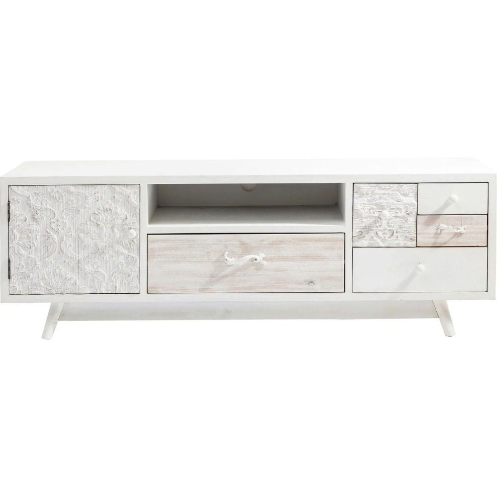 Krémový televízny stolík Kare Design Sweet Home