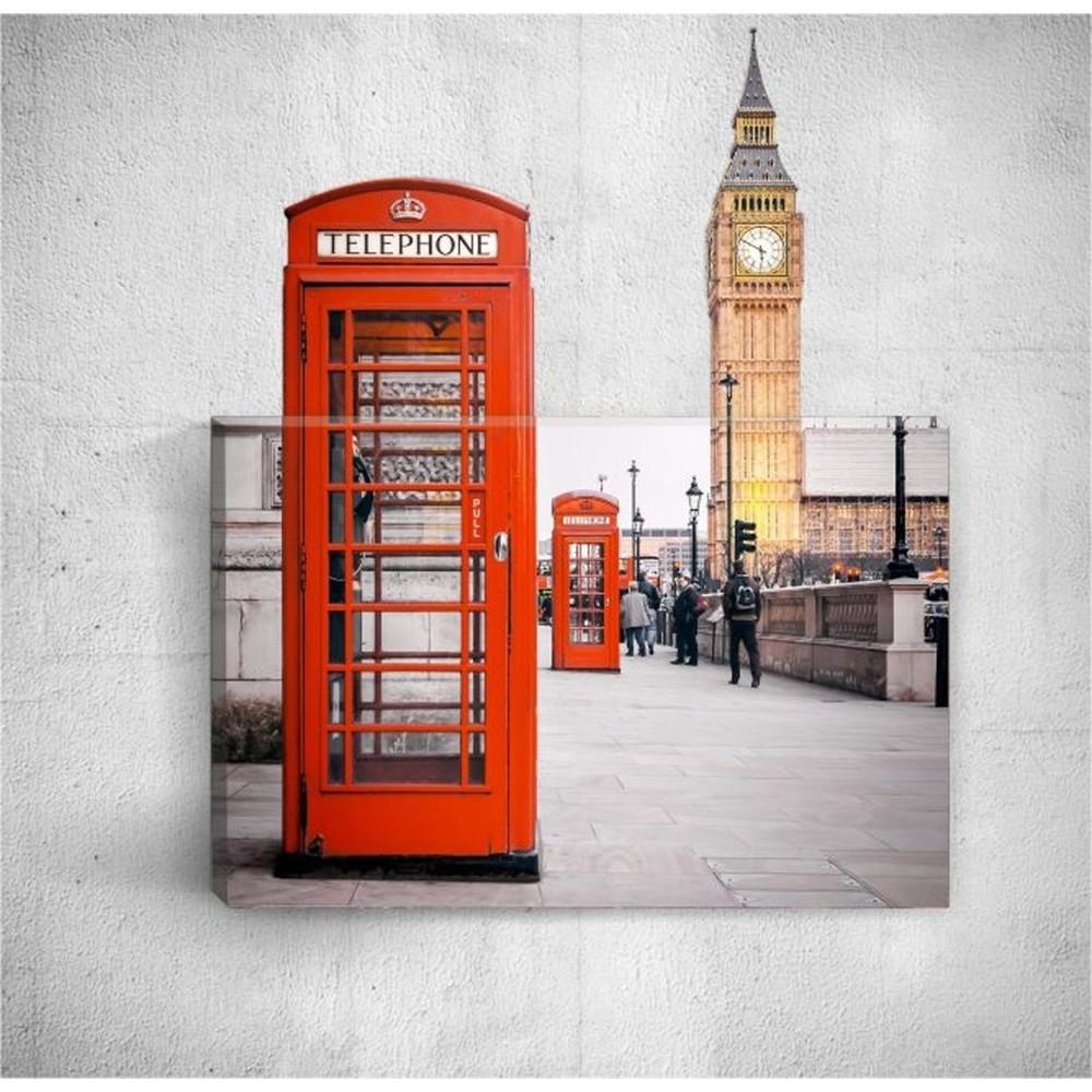 Nástenný 3D obraz Mosticx Telephone In London, 40×60 cm
