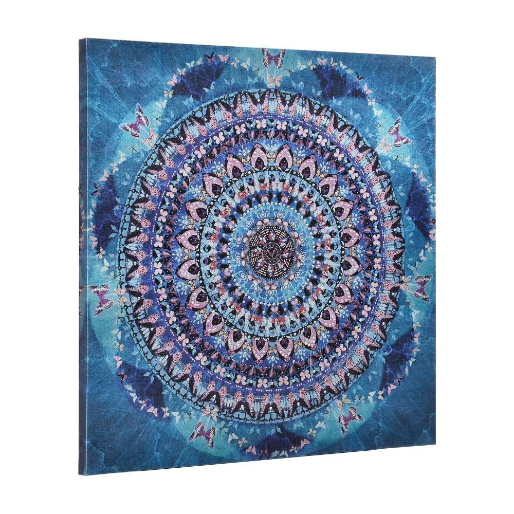 [art.work] Dekoratívny obraz na stenu - abstraktný vzor - plátno napnuté na ráme - 90x90x3,8 cm