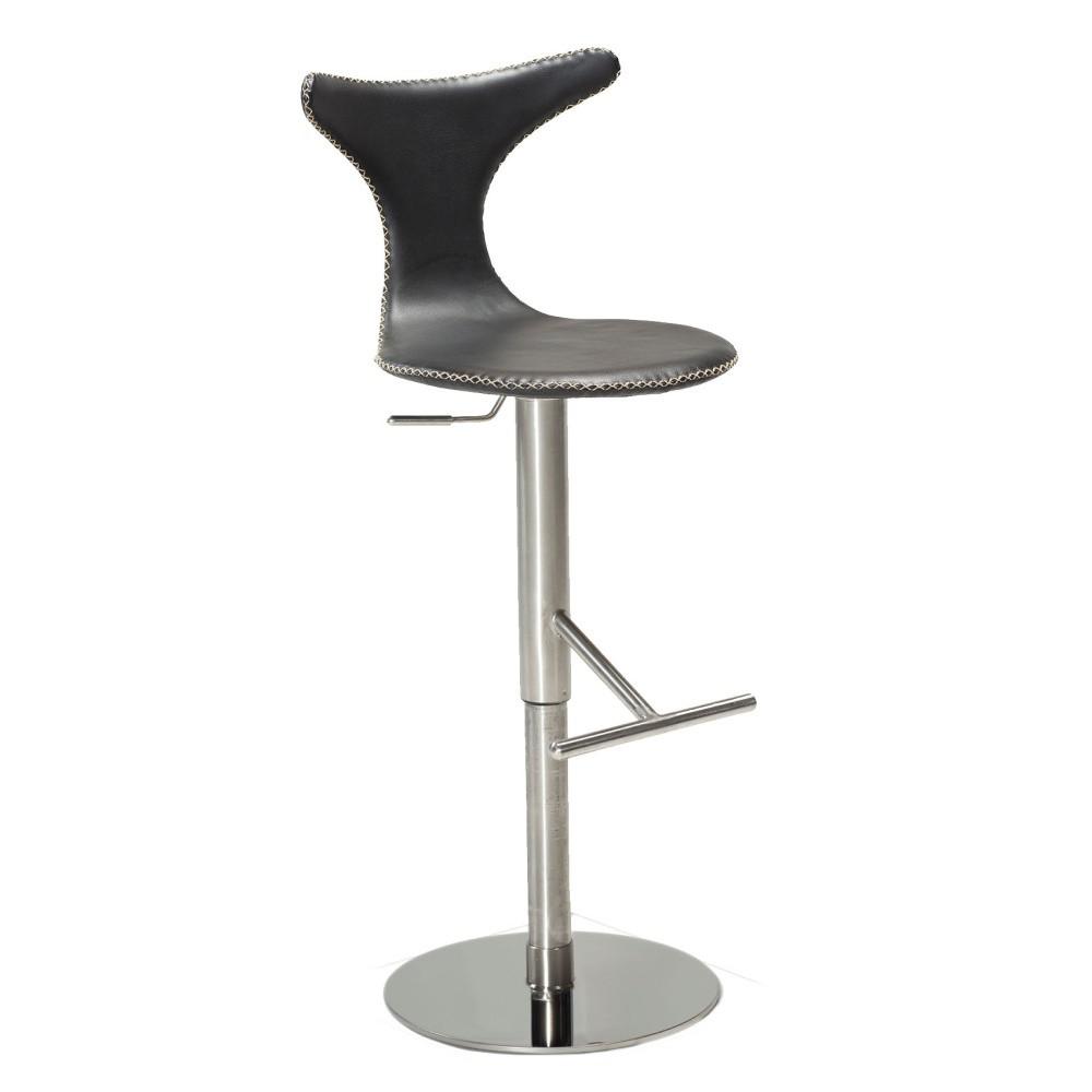 Čierna barová stolička DAN– FORM Dolphin