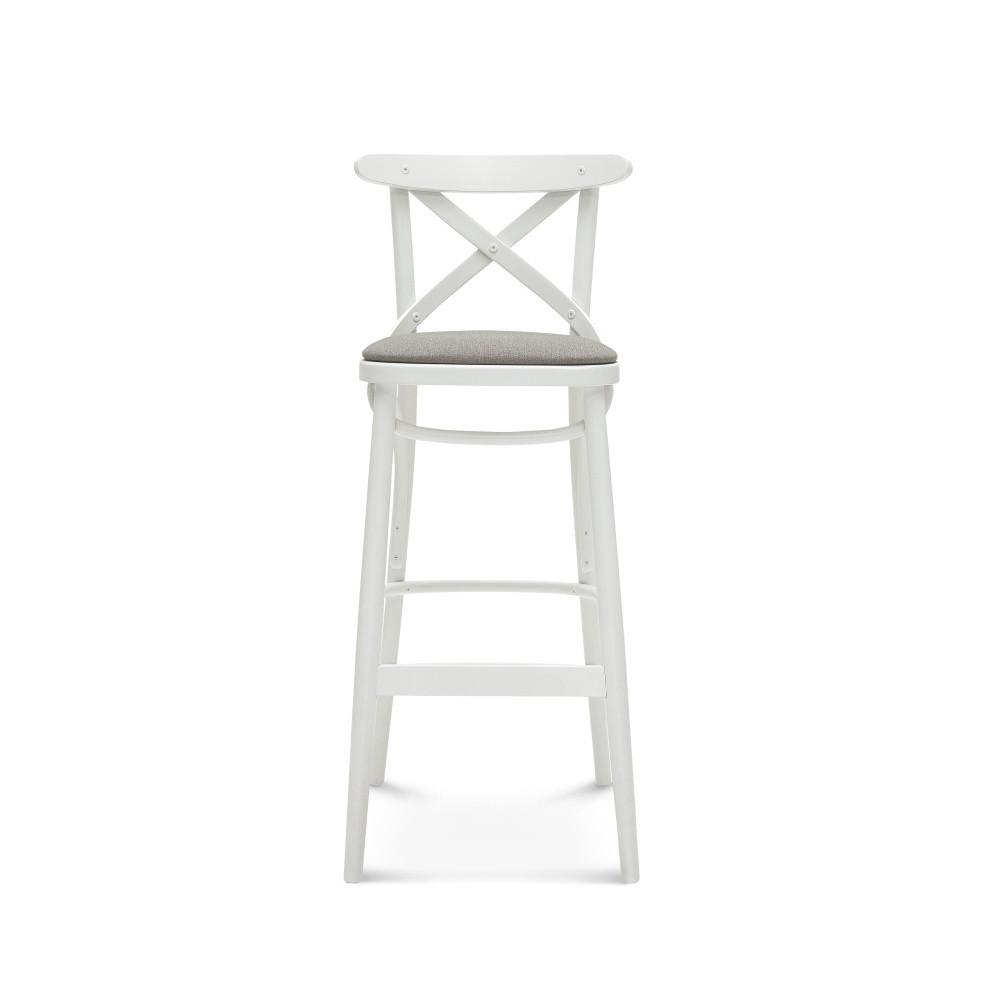 Biela barová drevená stolička Fameg Knud