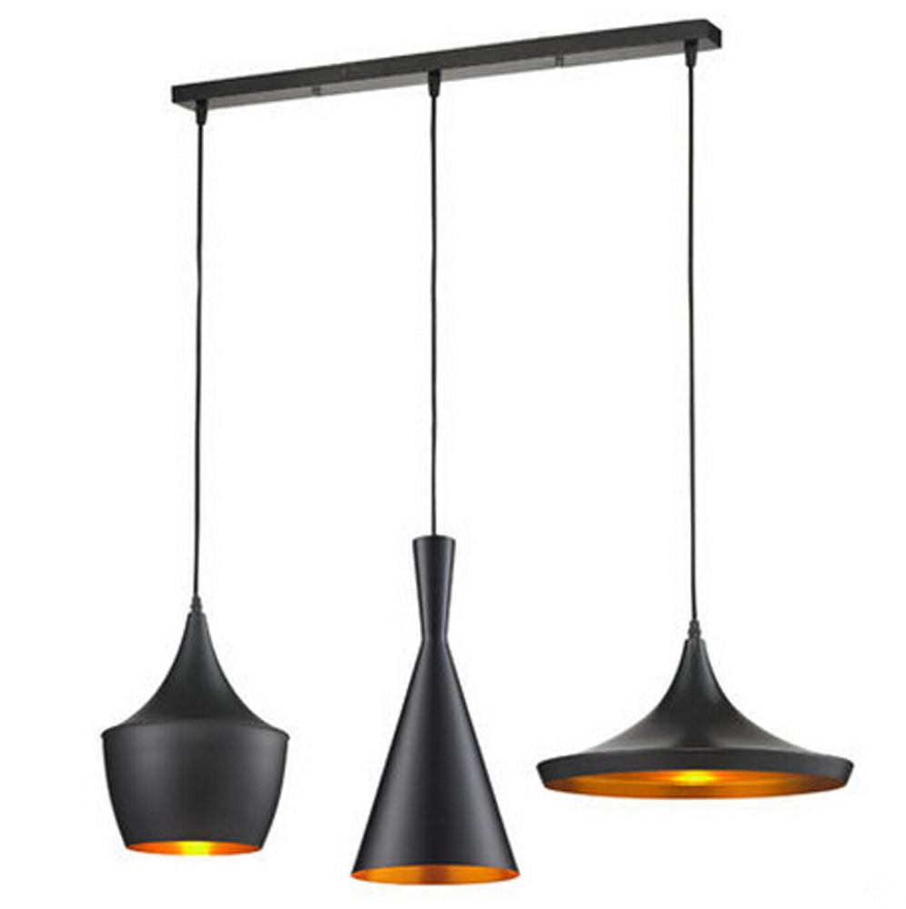 Čierne stropné svietidlo Dee