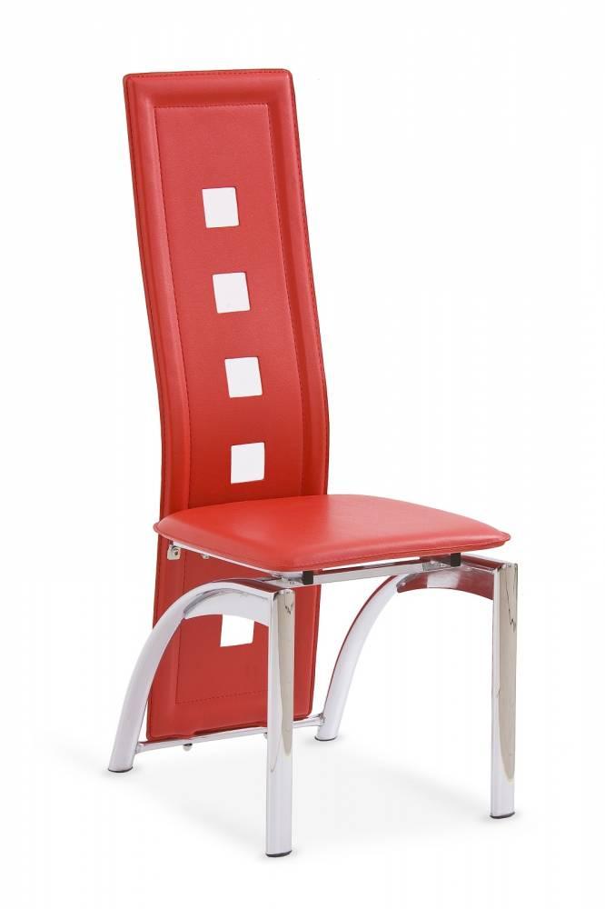 Jedálenská stolička K4 červená