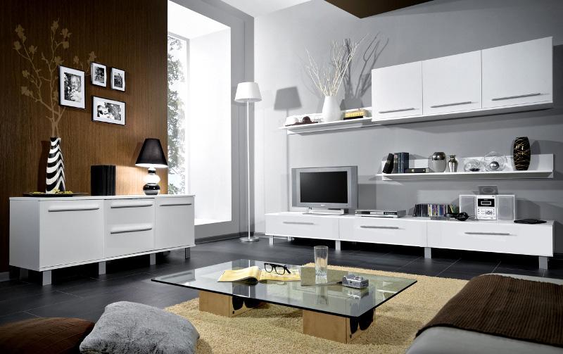 Biela obývacia stena MONICA