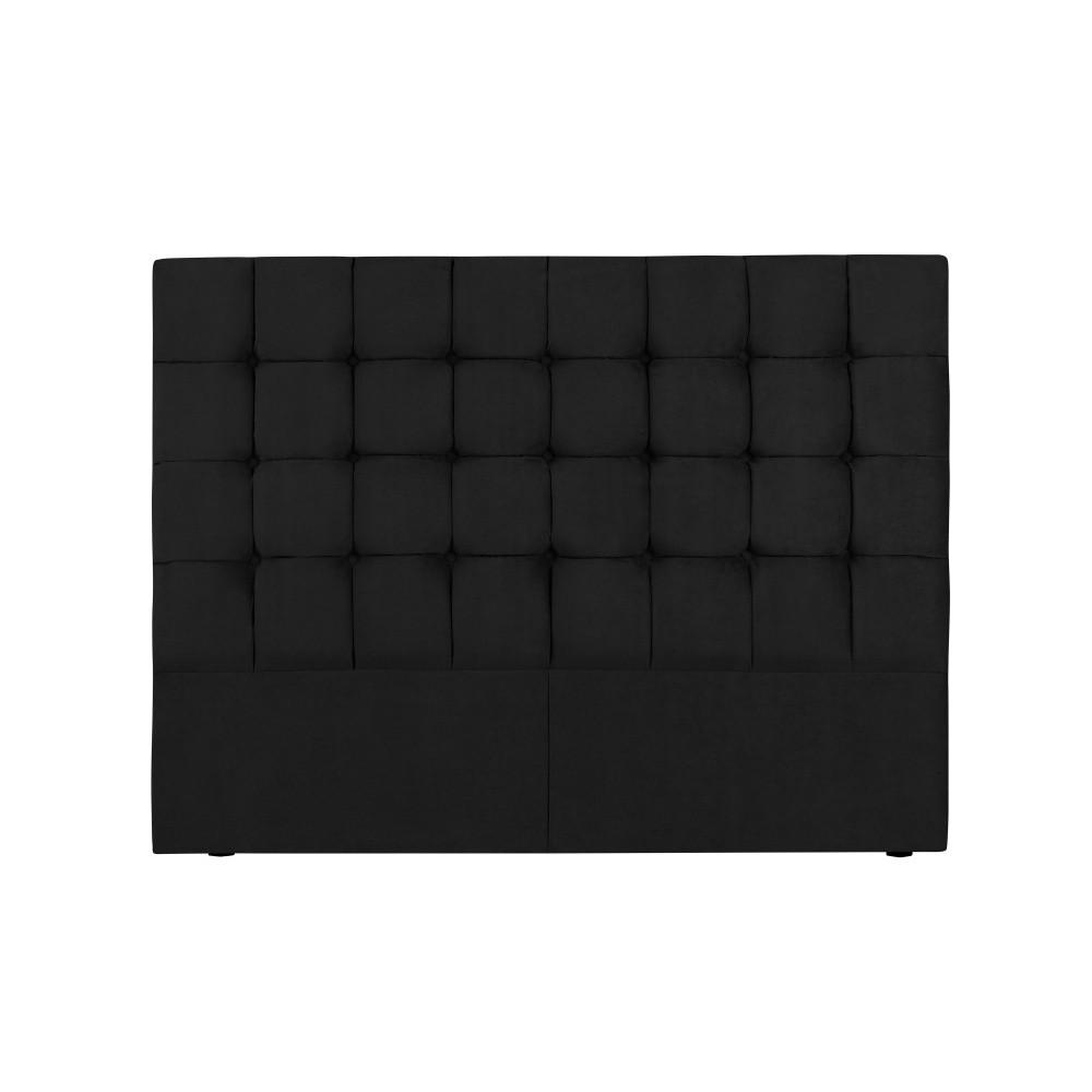 Čierne čelo postele Kooko Home Hasso, 120 × 140 cm