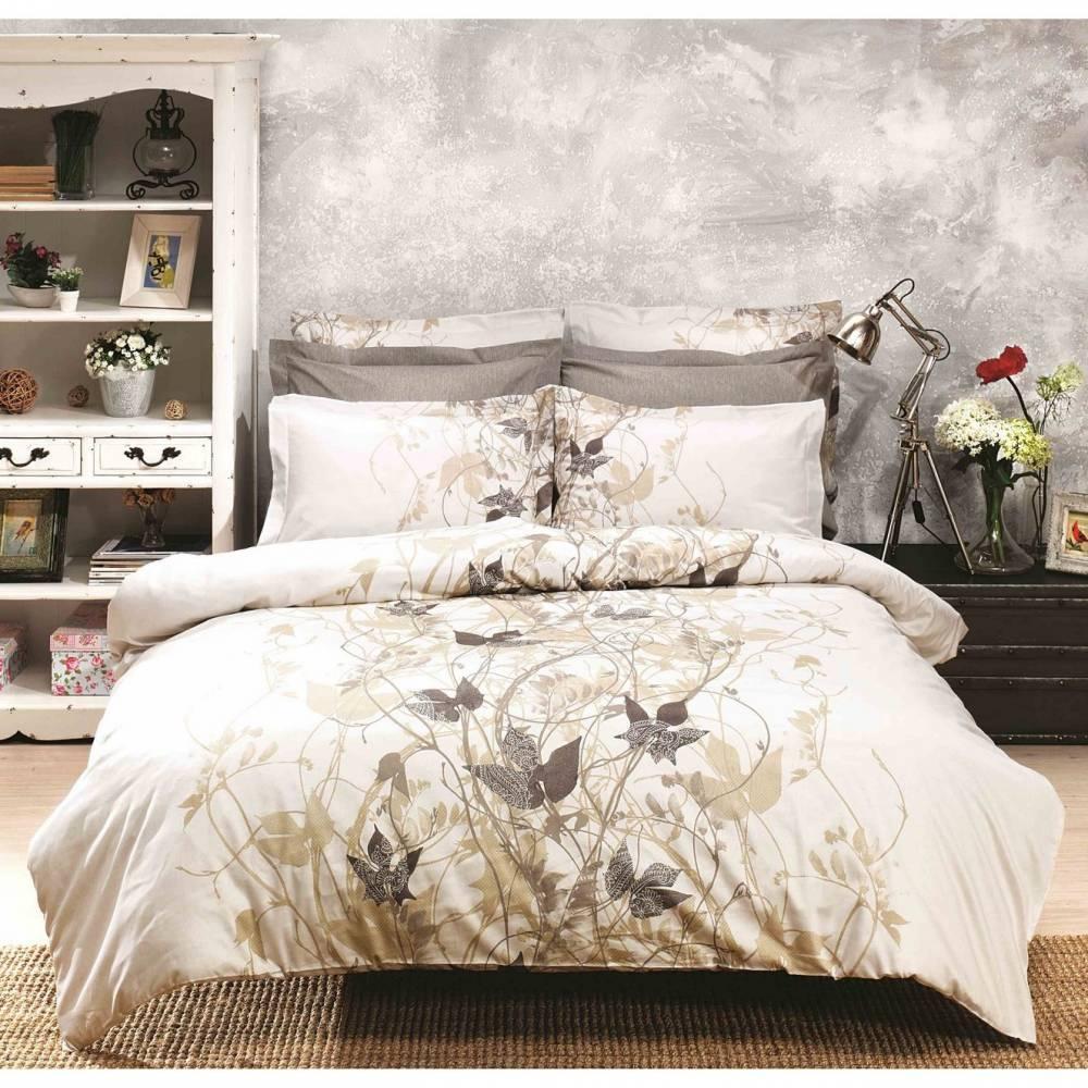 Halley home Bavlnené obliečky Giselle béžová, 220 x 200 cm, 2 ks 70 x 90 cm, 220 x 200 cm, 2 ks 70 x 90 cm