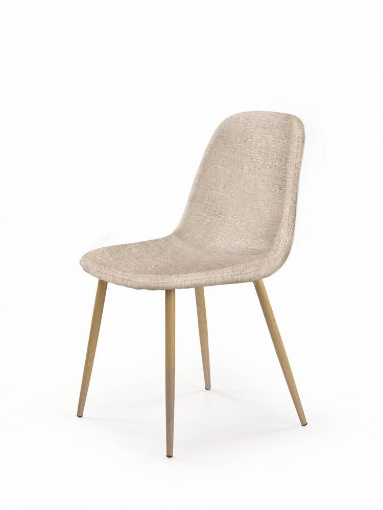 Jedálenská stolička K220 (tmavokrémová + dub medový)