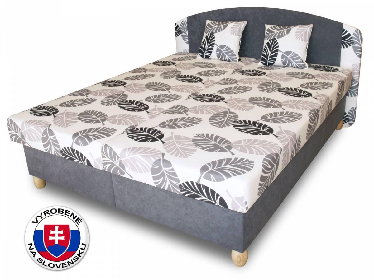 Manželská posteľ 160 cm Benab Paris (s roštami, matracmi a 2 ks vankúšov)