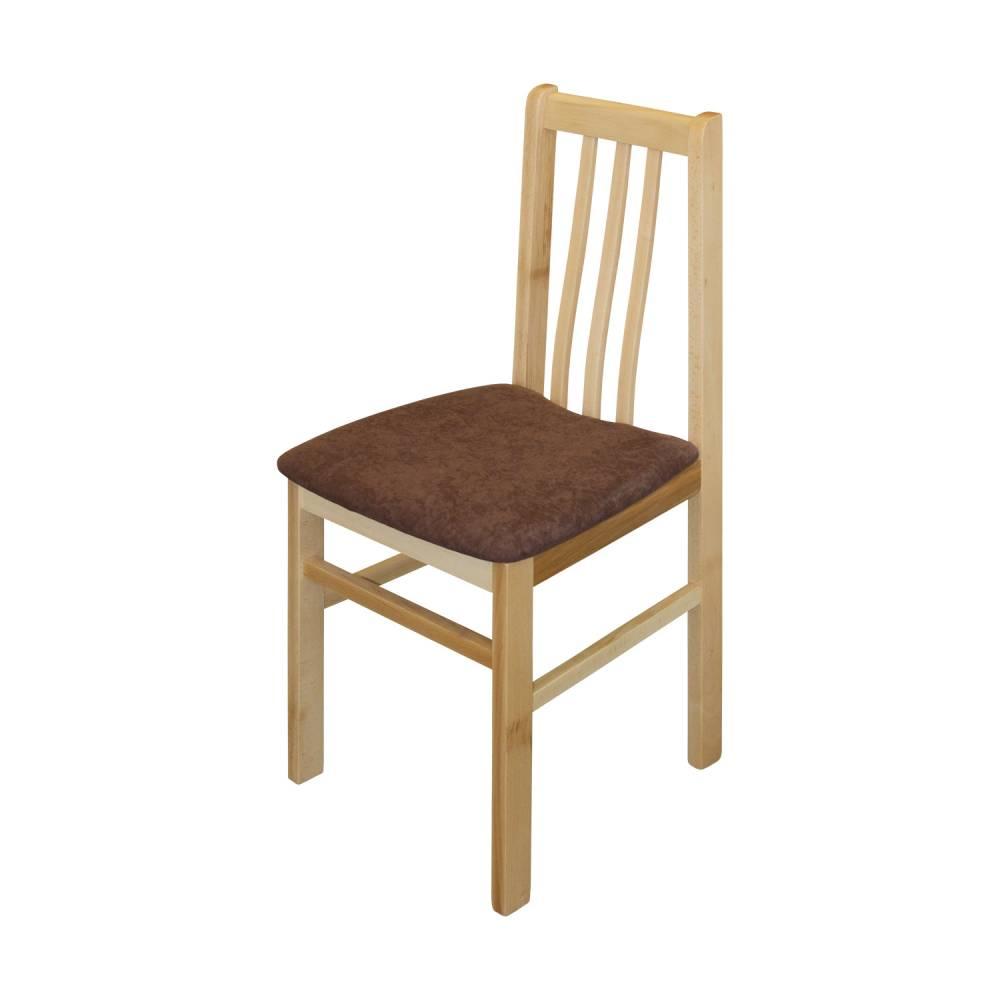 Jedálenská stolička MANDI buk/tmavo hnedá