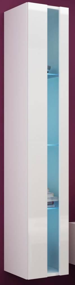 Vitrína na stenu Vigo 180 otvorená LED biela (s osvetlením)