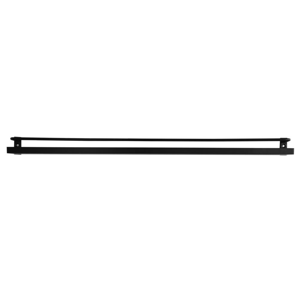 Čierna nástenná polica na fotografie RGE Ester, dĺžka 80 cm