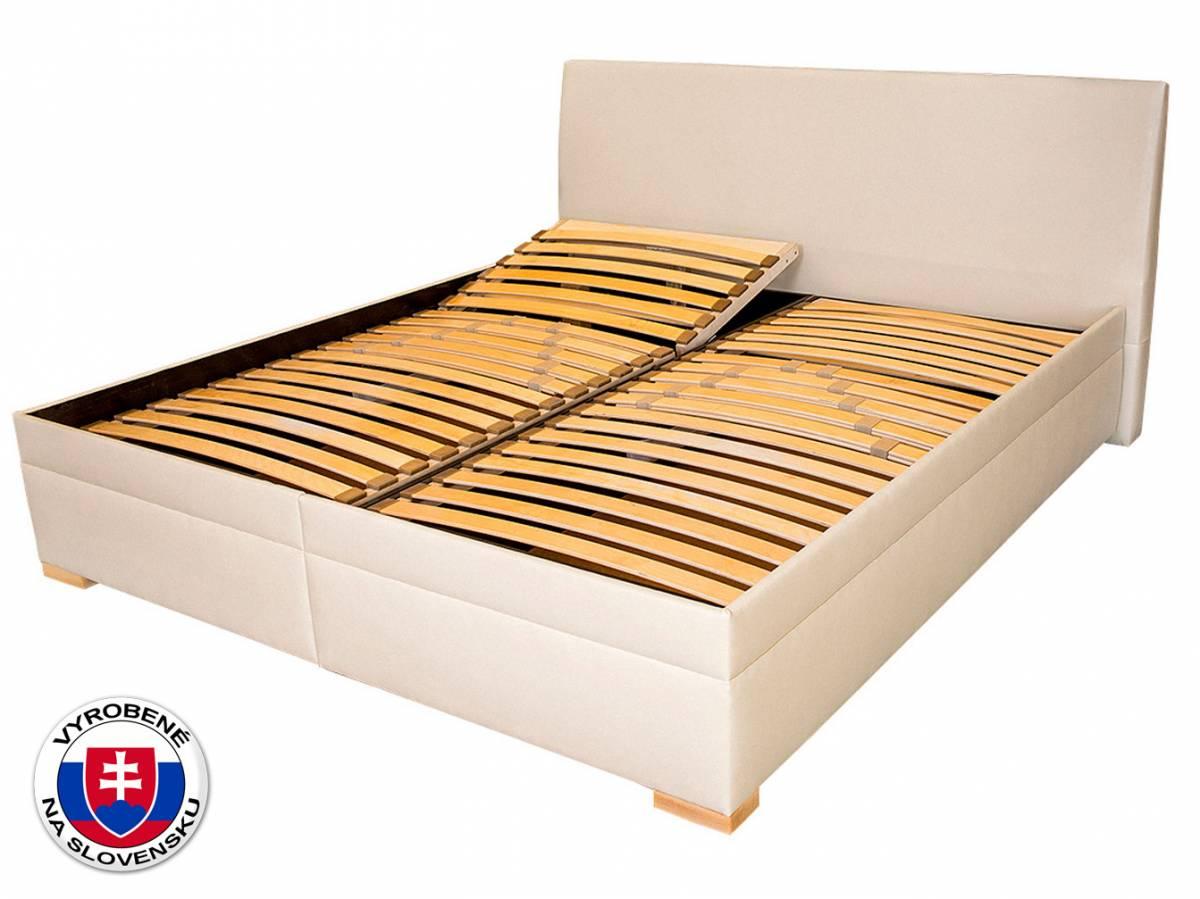 Manželská posteľ 180 cm Benab Toscana (s roštami a prehozom)