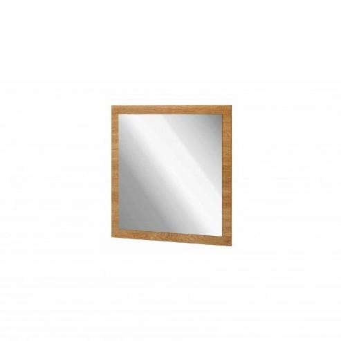 Nástenné zrkadlo v dekore orecha Szynaka-Meble Zefir, 78 x 78 cm