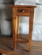 Furniture nábytok  Masívny stolík s 1 zásuvkou z Palisanderu  Náth  25x25x90 cm