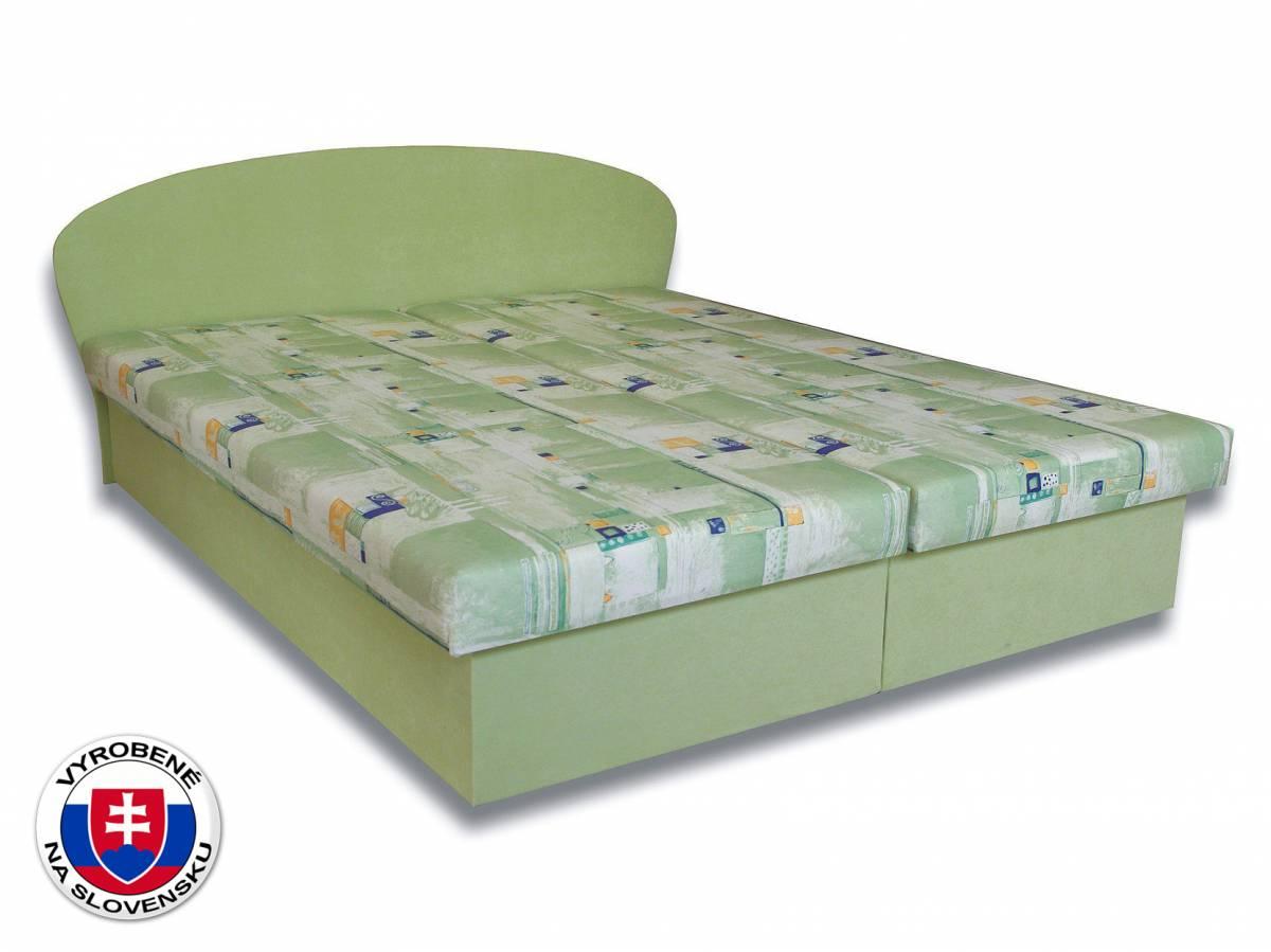 Manželská posteľ 160 cm Milka 2 (s penovými matracmi)