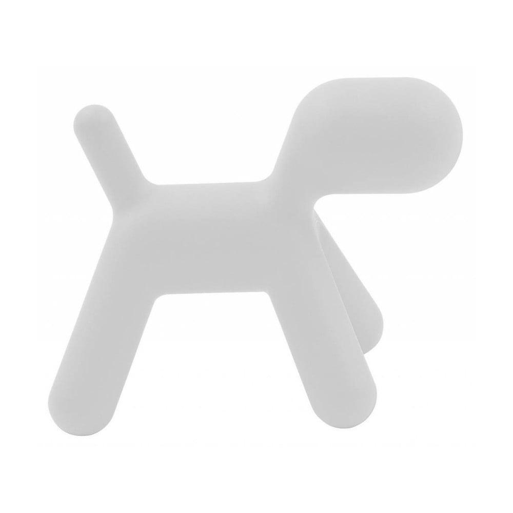 Biela detská stolička v tvare psa Magis Puppy, výška 45 cm