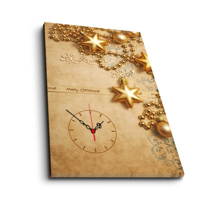 Obraz s hodinami Christmas no. 2, 45x70cm