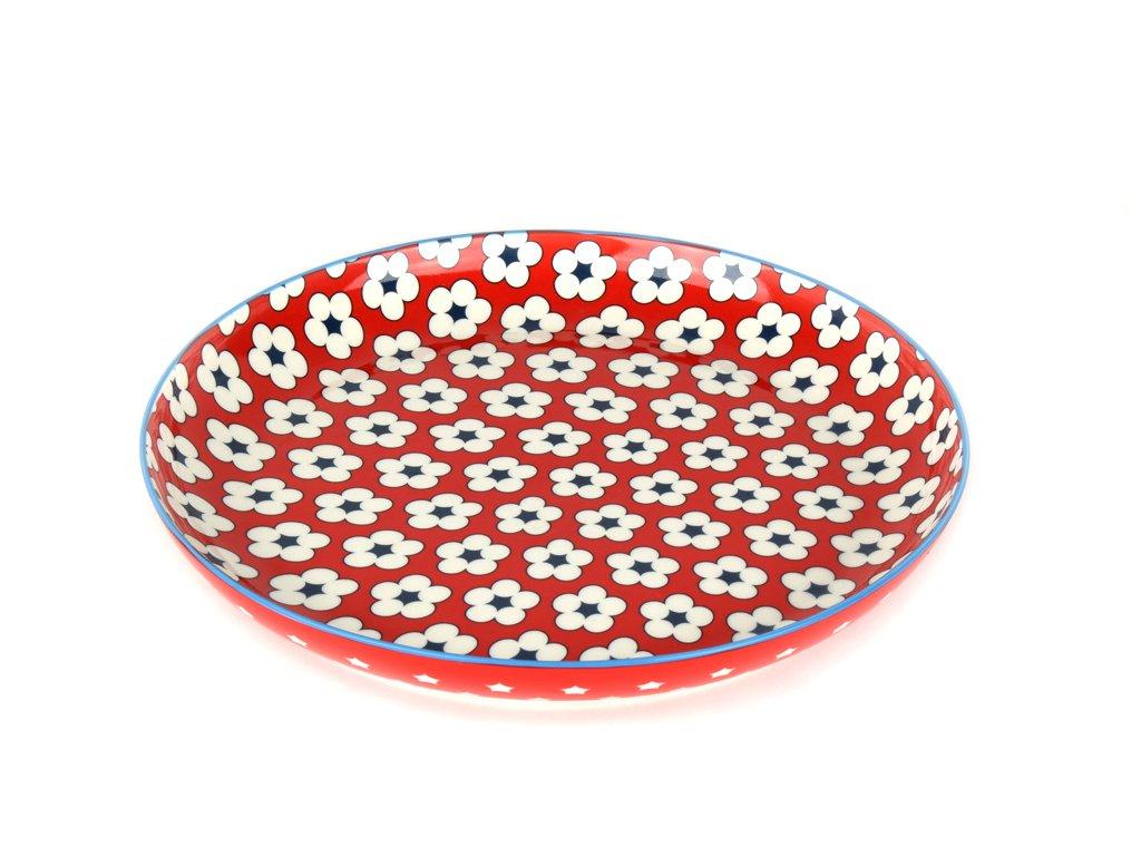 Plytký tanier Cotton Bud červený 23 cm