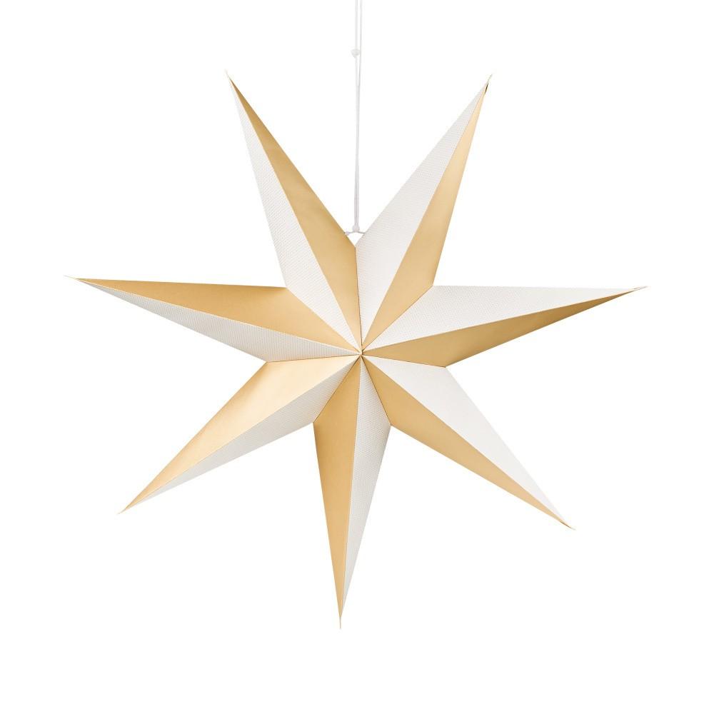 Zlato-biela papierová dekoratívna hviezda Butlers Magica, ⌀ 60 cm