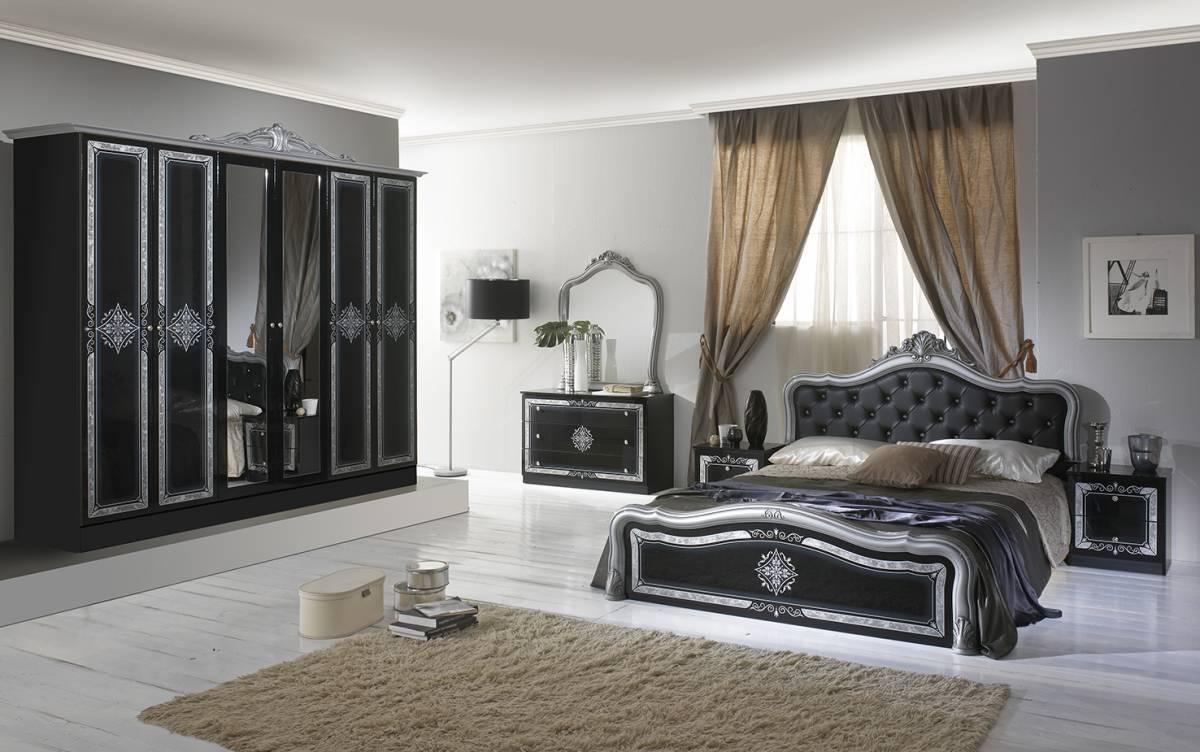 Spálňa LAISA - čierna,strieborná