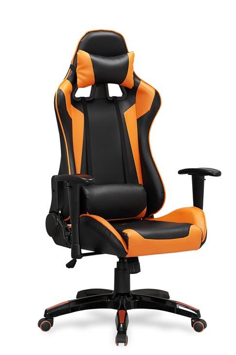 Kancelárske kreslo Defender (čierna + oranžová)
