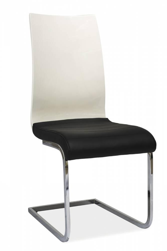 Jedálenská stolička H-791 (ekokoža čierna + dub sonoma)