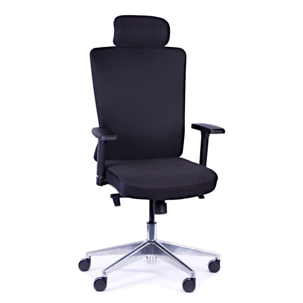 Rauman Kancelárska stolička Vella, čierna s hlavovou opierkou VELLA AF B15