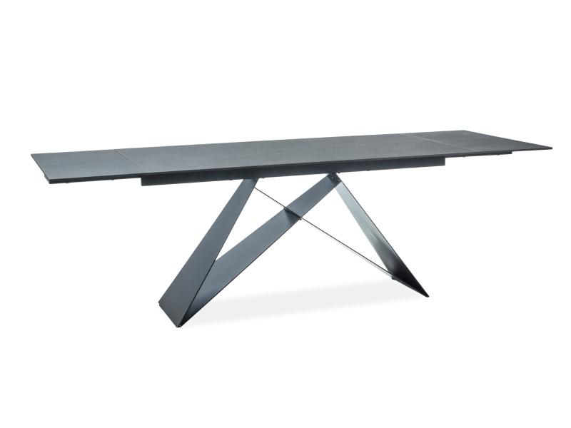 WESTIGE jedálenský stôl, čierny efekt kameňa