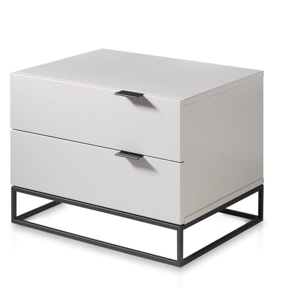 Biely nočný stolík Ángel Cerdá Fidelia