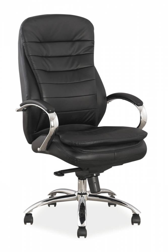 Kancelárske kreslo Q-154 koža (čierna koža)