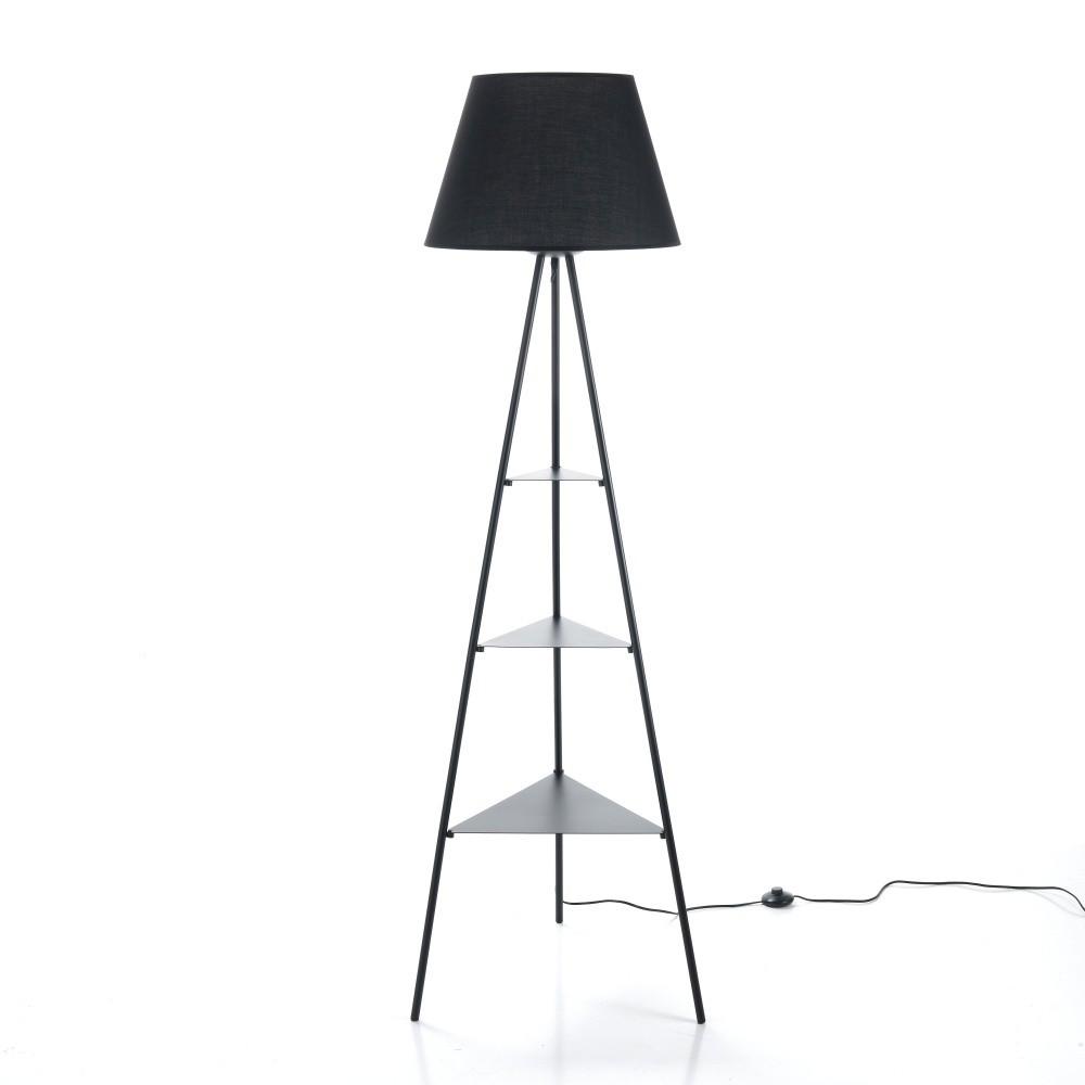 Stojacia lampa s čiernym tienidlom Tomasucci Jiz