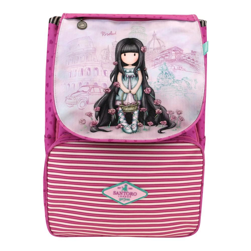 8047b8ae1f Ružový školský batoh Santoro London Rosebud