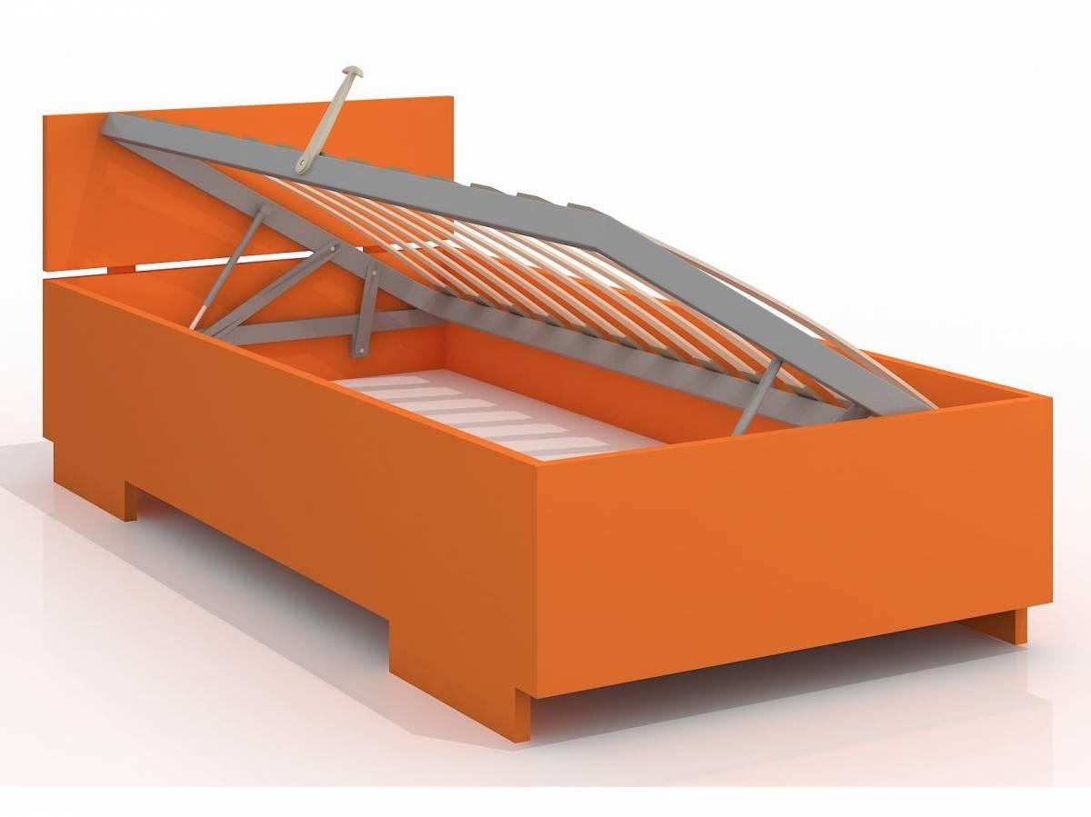 Jednolôžková posteľ 120 cm Naturlig Kids Larsos High BC (borovica) (s roštom)