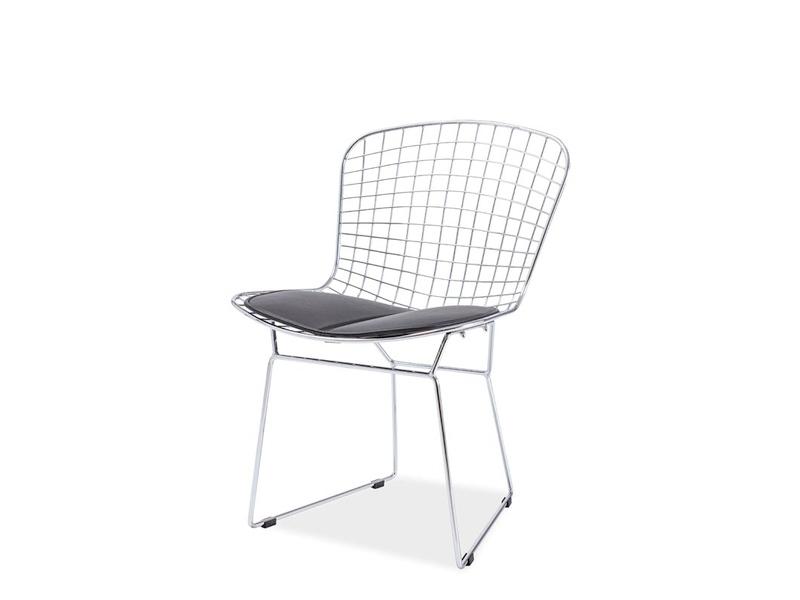 ALFINO jedálenská stolička, chróm/čierna