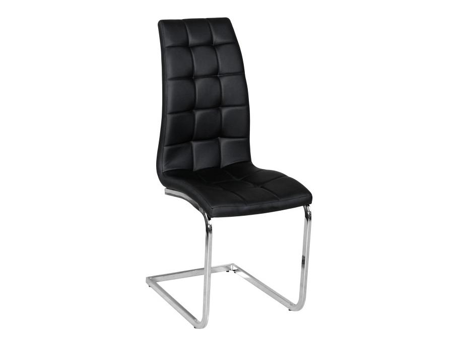 Jedálenská stolička Dulcia (čierna + chróm)