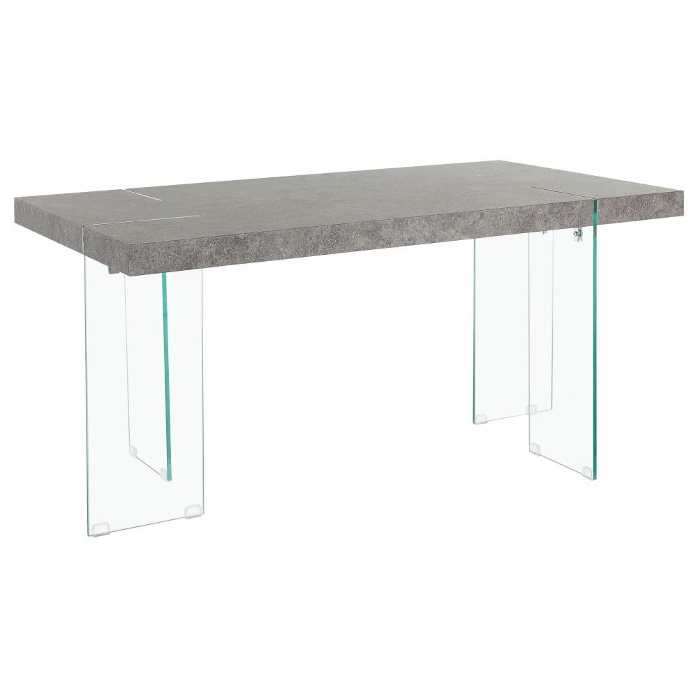 Jedálenský stôl so sivou doskou Støraa Triton