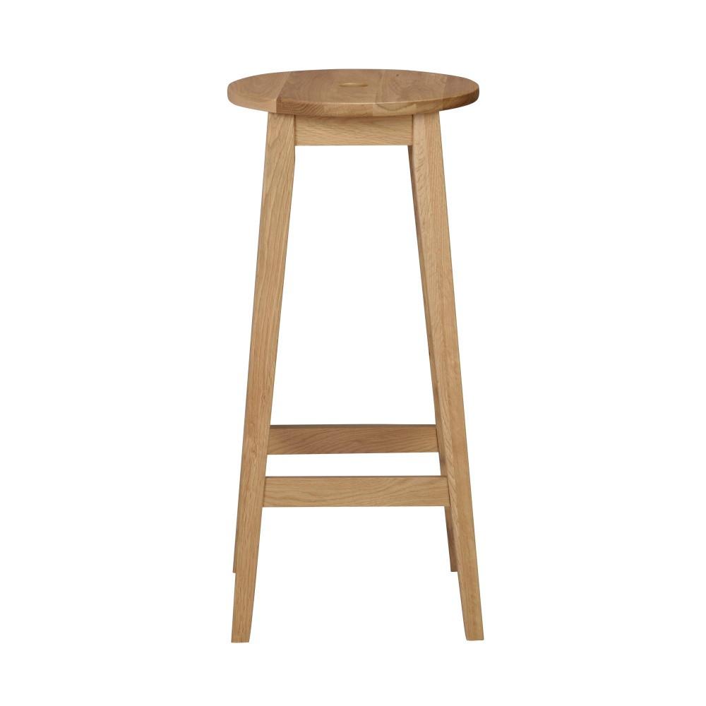 Prírodná dubová stolička Folke Gorgona, výška 75 cm