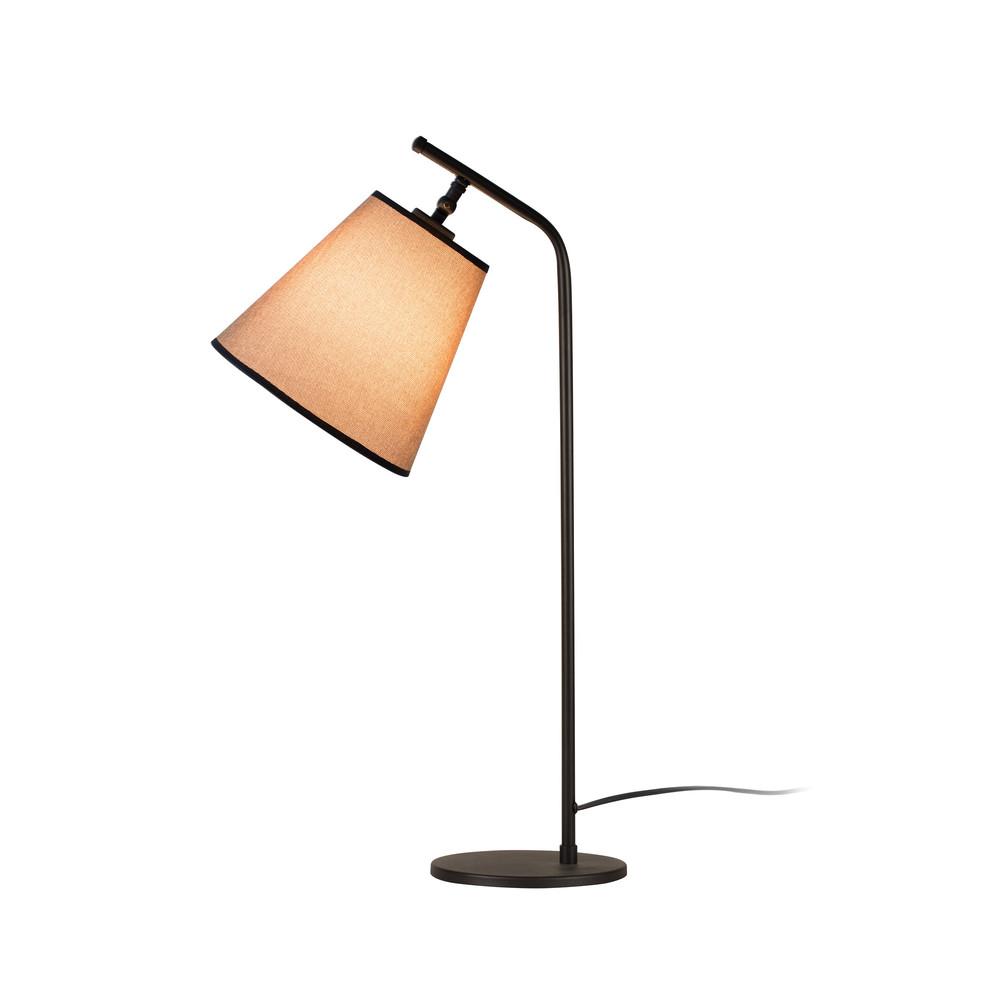 Čierna stolová lampa s béžovým tienidlom Don