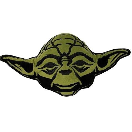 Cure Pink Tvarovaný vankúšik Star Wars Yoda, 35 x 33 cm