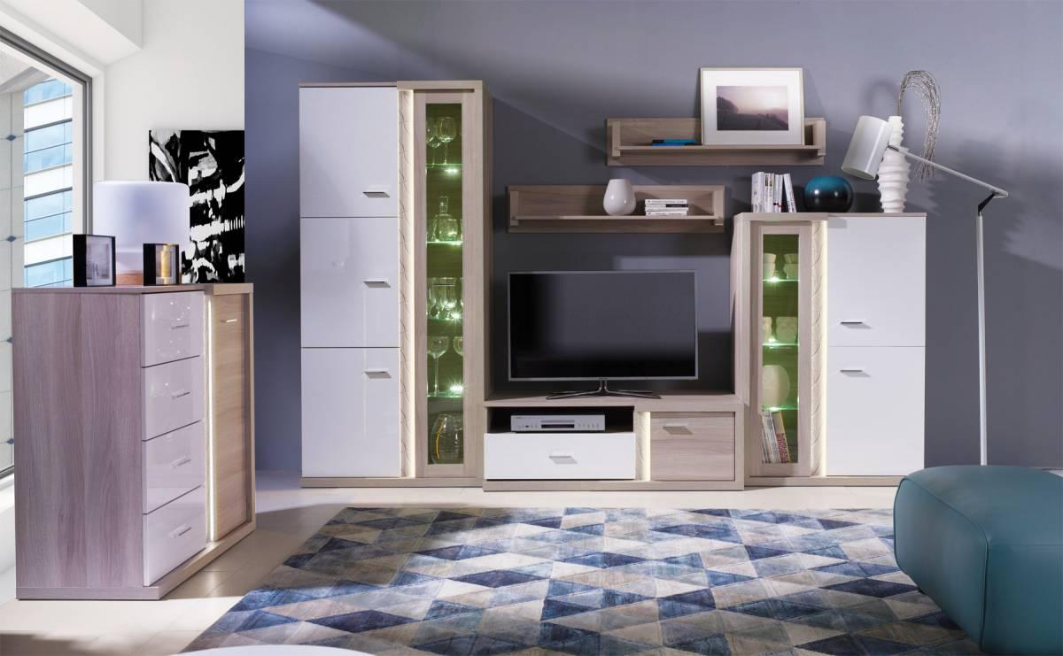 Lesklá obývacia stena URBIS  A
