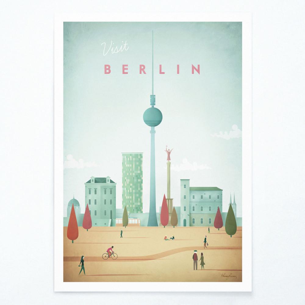 Plagát Travelposter Berlin, A3
