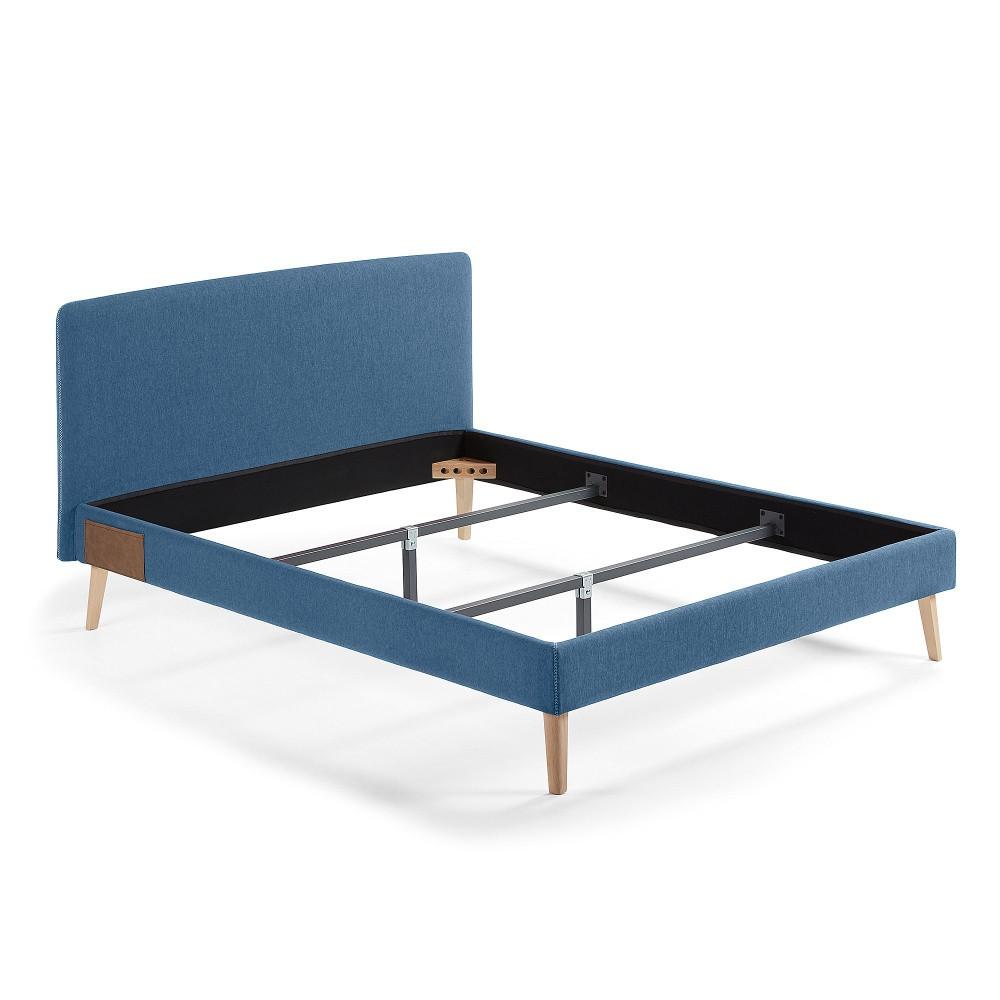Tmavomodrá dvojlôžková posteľ La Forma Lydia, 190×150cm