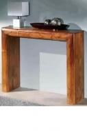 Furniture nábytok  Masívny toaletný stolík s 1 zásuvkou z Palisanderu  Prém I  100x30x80 cm