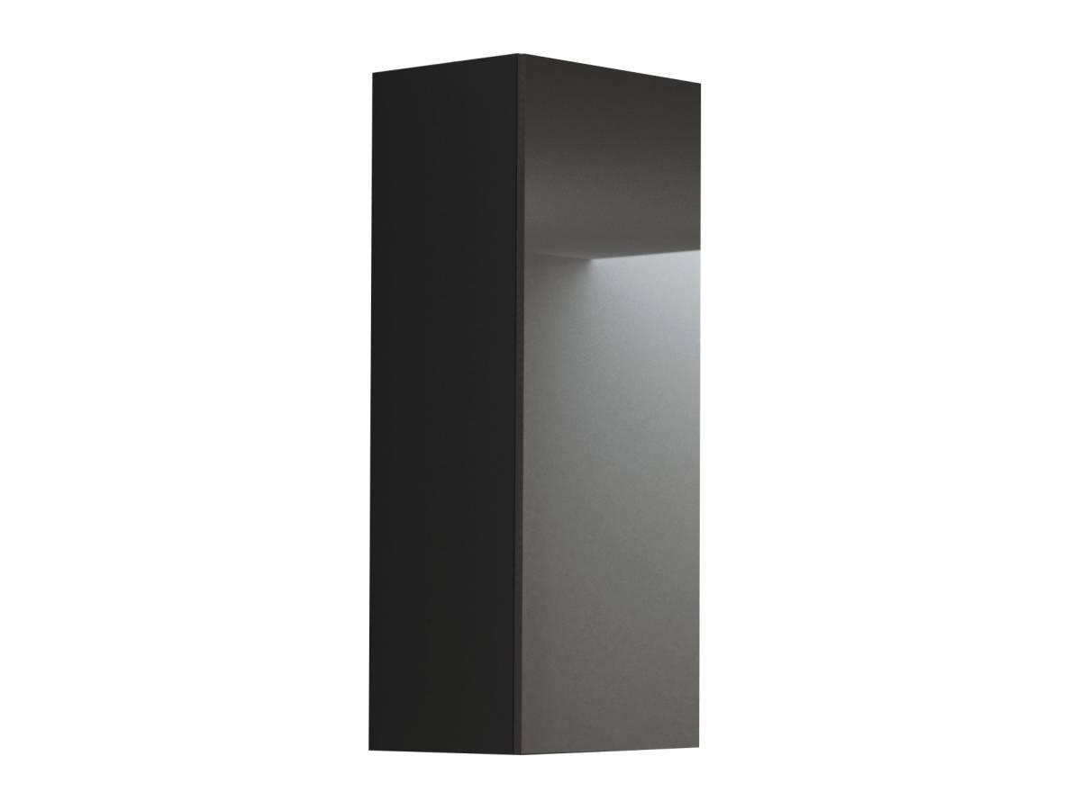 Skrinka na stenu Livo S-120 (čierna + lesk čierny)