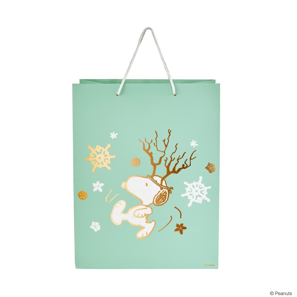Darčeková taška Butlers Snoopy s parožím, výška 13,5 cm