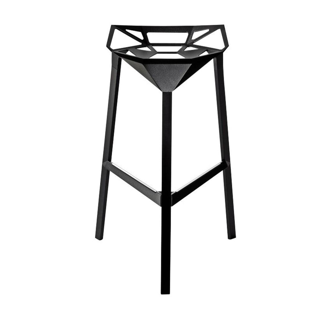 Čierna barová stolička Magis Officina, výška 84 cm