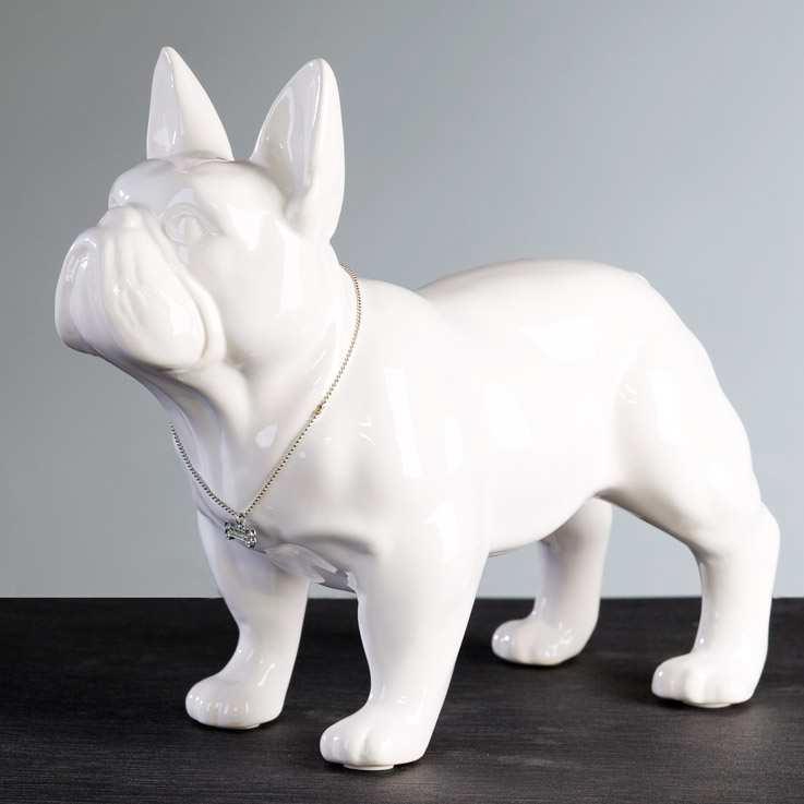 Dekoratívna soška MOPS - biela