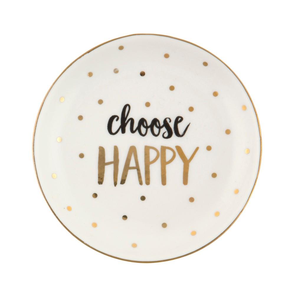 Keramický dekoratívny tanierik Sass & Belle Choose Happy