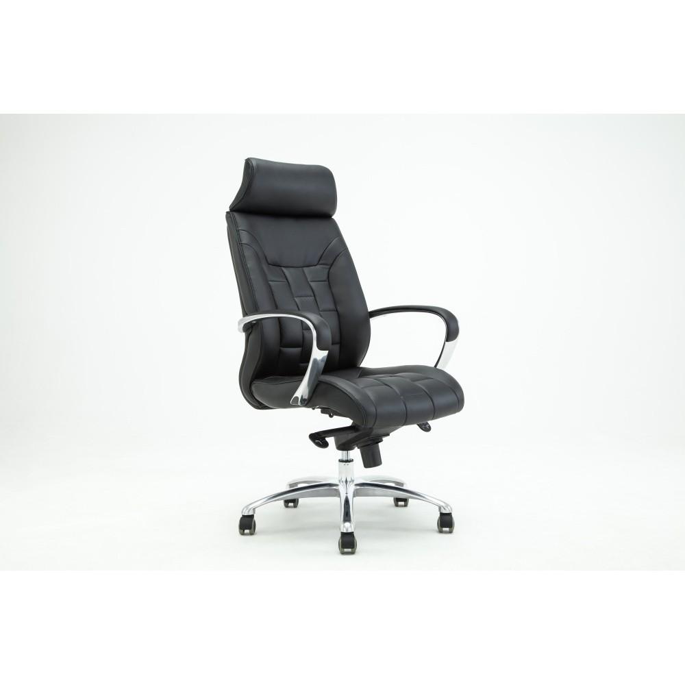 Čierna otočná kancelárska stolička RGE Comfort