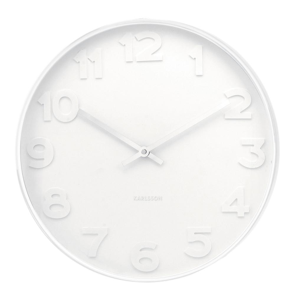 Biele hodiny Present Time Mr. White